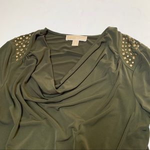 MICHAEL Michael Kors Dresses - Michael Michael Kors Medium Green Studded Dress